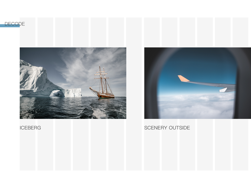 Quike work grid web design scenery flight iceberg sketch