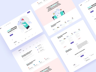 Aglee - Digital Landing Page web design colorful ux design ui design template creative clean interface design minimal company illustrations ux ui landing page agency marketing business digital