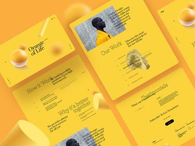 May - Landing Page digital colorful work studio 3d portfolio agency landing page agency ux design ui design typography landing page creative clean minimal interface design ux ui