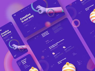 Coiii - Landing Page colorful website 3d header portfolio agency ux design ui design typography landing page creative minimal interface ux ui web design illustration moblie web