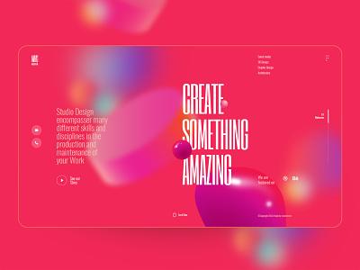 MayG - Landing Page colorful header business portfolio 3d ilustration mobile ux design ui design agency typography landing page creative clean minimal interface ux ui web design web