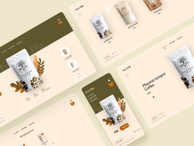 May Coffee web web design header store coffee shopping ecommerce moblie ux design ui design typography landing page creative clean minimal design interface ux ui