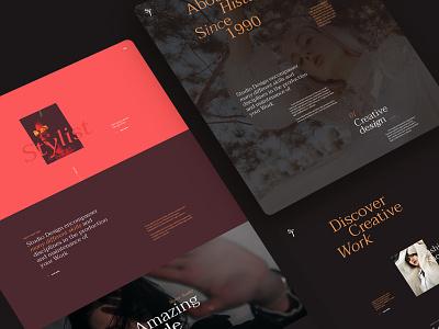 Sf - Fashion stylist & Art studio web design portrait art portfolio stylish fashion art studio ui design agency typography landing page creative minimal design interface ux ui