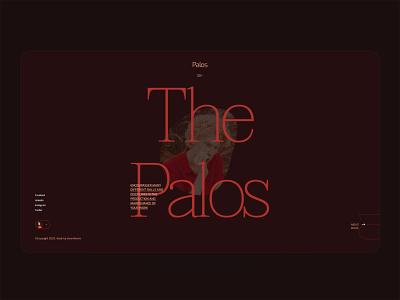 ThePalos - Fashion stylist & Art studio model web design portfolio studio artwork art stylish style fashion ux design ui design agency typography landing page creative minimal interface ux ui