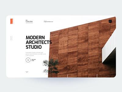 MayArc - Architecture Landing Page whitespace mordern decor home studio portfolio ux design ui design agency typography clean landing page creative minimal interface ux ui