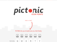Pictonic - Font Icons: Landing Page