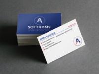 Softrams business card mockup