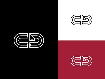 Personal logo rebranding redesign concept logo design logotype d c red line black white rebrand branding logo flat vector simple design