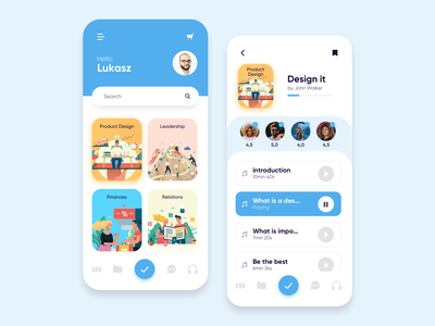Learning app uxui ux task app student studying courses class exam study learn app