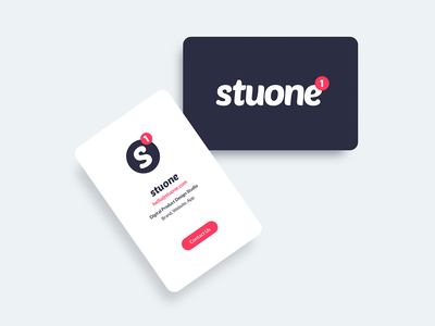 Brand for my new Digital Studio - Stuone stuone digital studio bussines card logo brand