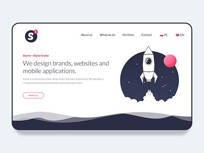 Shot oh my new Digital Studio Website - Stuone stuone logo brand app design website app studio digital