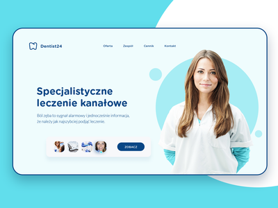 Dentist24 - First shot from new website healthcare care healthy medicine ux ui wensite dentist