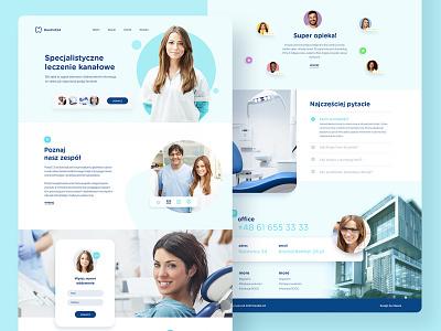 Dentist24 - Webdesign for polish dentist company healthy healthcare care web wedesign uiux ui app dentist