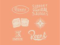 Roark Wordmarks/ Custom Type
