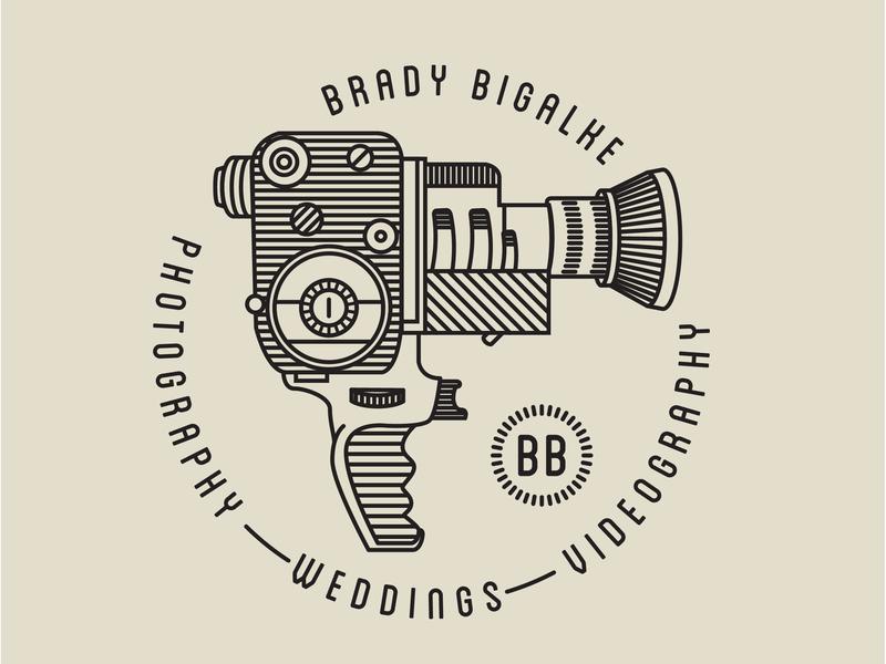 Film Camera vector branding lockup typography super 8 wedding photography circle illustration camera illustration film camera camera logo