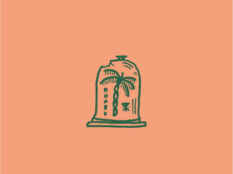 Paradise Preserved surf brand surf company palm embroidery typography roark revival roark bell jar simple illustration illustration palm tree