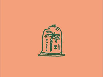 Paradise Preserved surf brand surf company palm embroidery typography roark revival roark bell jar simple illustration illustration palm tree