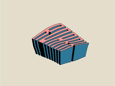 Warpy Text tee design shirtdesign branding roark design experimental warpy illustration drop shadow typography type