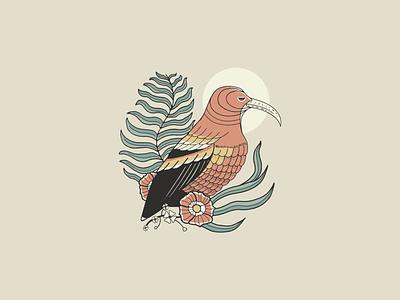 I'iwi Bird hawaii vissla hawaiian tee design illustration bird illustration iiwi bird