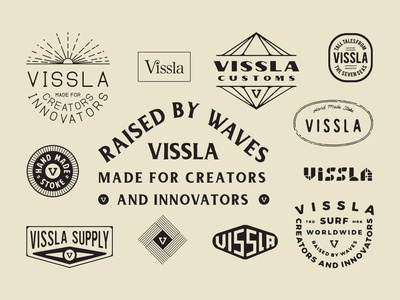 Lockup Roundup 1 vissla illustration badge typography roundup lockups lockup