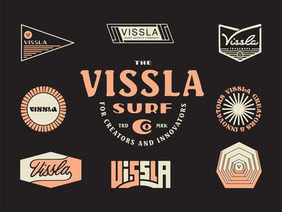 Vissla Roundup lockups vissla roundup badge type typography lockup