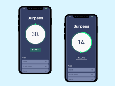 HIIT Workout Countdown - Daily UI 014 014 countdown timer workout app mobile ui daily ui