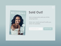 Becoming Overlay Message -  Daily UI 016