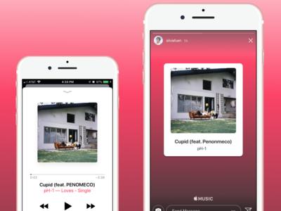 Apple Music Instagram Sharing - Daily UI 09