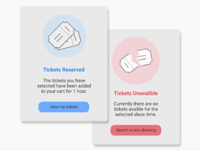 Ticket buying Flash Messages - Daily UI 011