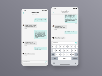 Aqua Chat - Direct Messaging - Daily UI 013