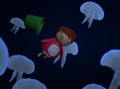 ponyo 1.2 animation motion jellyfish underwater ocean redshift ponyo anime studioghibli 3d octane c4d abstract lighting illustration identity cinema4d