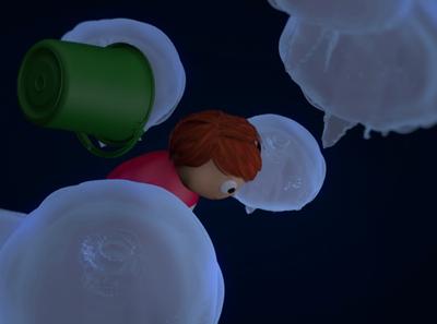 ponyo 1.4 character material glow animation motion underwater ocean studioghibli ponyo anime art identity c4d octane lighting illustration abstract 3d design cinema4d