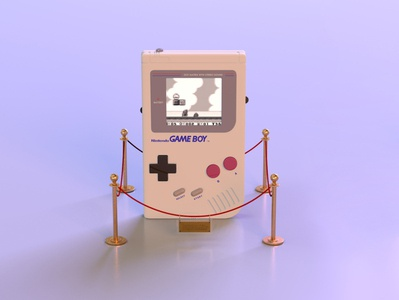 gameboy 1.3 gameboy mariobros museum nintendo videogame gaming retro vintage throwback 90s render c4d branding octane abstract lighting cinema4d 3d design