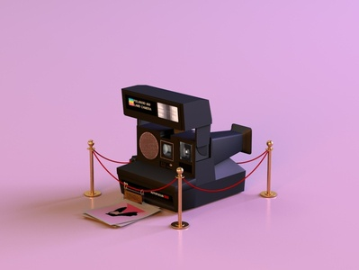 polaroid sun 660 1.2 photograph museum throwback 90s flash film digital photography instantcamera camera polaroid render c4d branding octane abstract lighting cinema4d 3d design