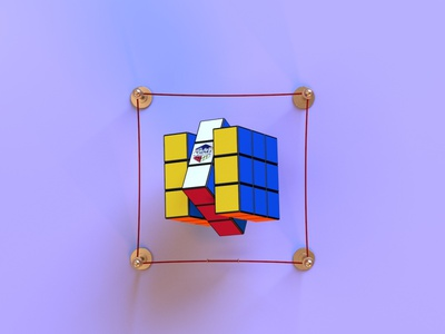 rubik's cube 1.3 throwback game technology 90s vintage retro toy magic rubikscube render identity c4d branding octane abstract lighting cinema4d minimal 3d design