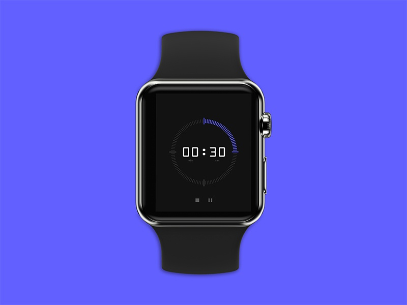 Countdown mockup design mockup tech design countdown timer applewatch ios logo identity web ux icon branding ui mobile minimal illustration flat design app
