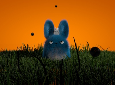 Chu-Totoro & Chibi-Totoro 1.2 render c4d abstract identity octane lighting illustration cinema4d art 3d