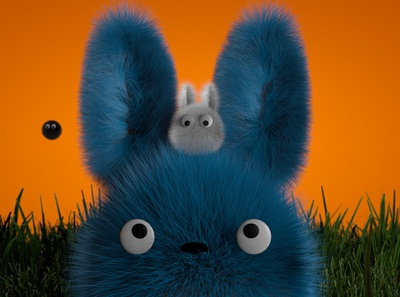 Chu-Totoro & Chibi-Totoro 1.3 identity branding characterdesign aftereffects animation octane 3d lighting cinema4d art abstract design