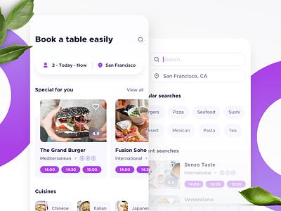 Restaurant Booking ios app ios search restaurant booking mobile app app design app ui