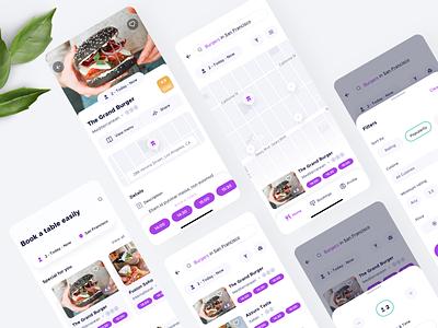 Restaurant Booking mobile app ios ui booking restaurant app design mobile app