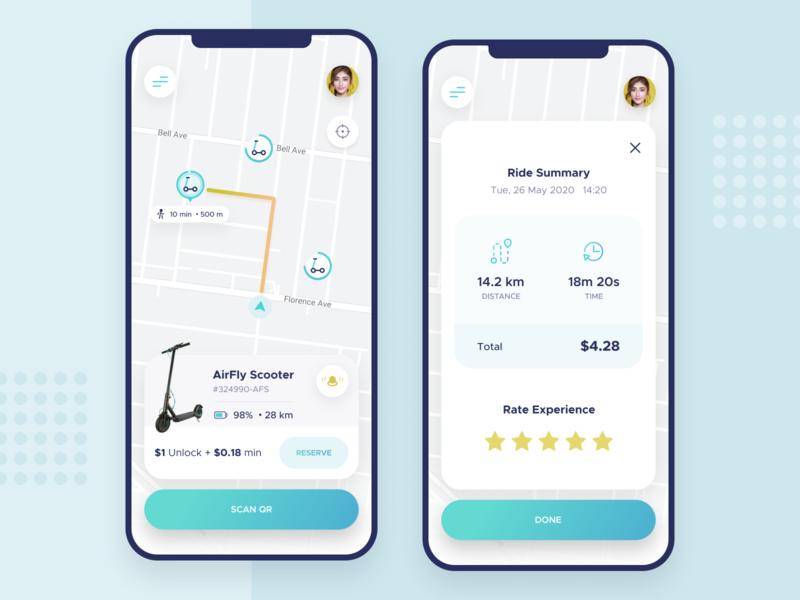 Scooter rent app