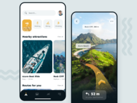 Outdoor Routes App ar user interface interface mobile ui mobile app mobile app iosapp ios ux ui