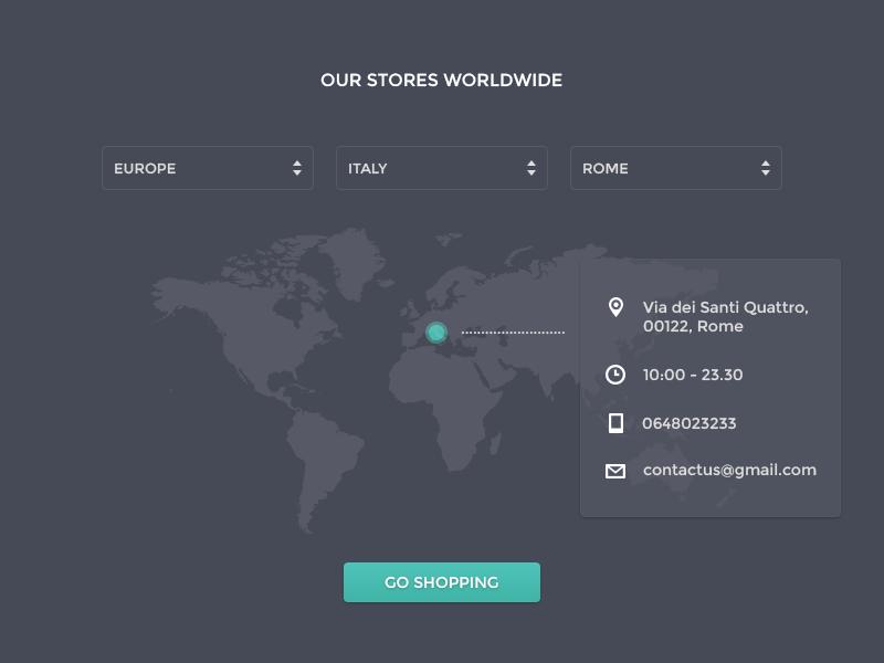 Store Finder ui ux interface dark button map locator location