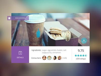 Food Widget gicons widget flat modern rating ui user interface