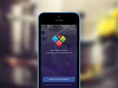 Login Screen ui user interface ios app icon ios7 login