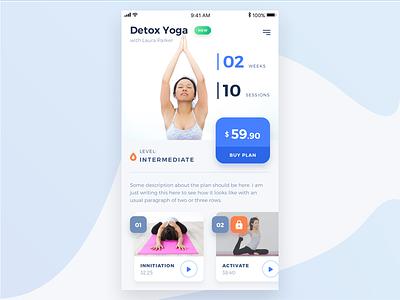 Yoga Plan ux ui plan mobile design app ios