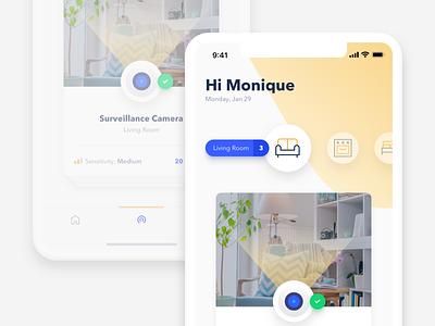 Smart Home App interface smart home app ux ui mobile design ios