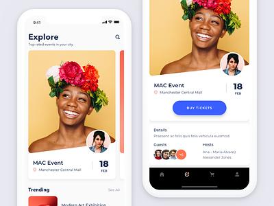 Events App app ios explore tickets event exploration ux ui