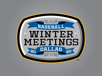 2020 Baseball Winter Meetings banner star badge mlb milb meetings winter baseball 2020
