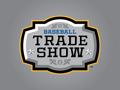 2020 Baseball Trade Show texas dallas tradeshow trade baseball logo sports badge 2020